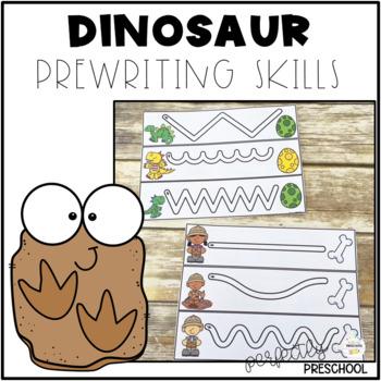 Dinosaur Prewriting Skills