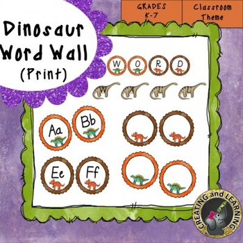 Dinosaur Print Word Wall