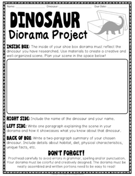 Dinosaur Project: Decorate a Shoebox Diorama: Perfect for ANY Dinosaur!