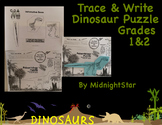 Trace & Write Dinosaur Puzzle- Elementary Level- MidnightStar