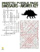 Dinosaur Puzzle Page (Wordsearch and Criss-Cross)
