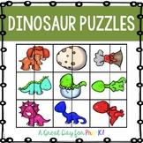 Dinosaur Puzzles FREEBIE for Preschool, Prek, and Kindergarten