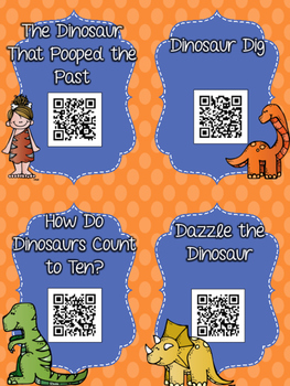 Dinosaur QR Codes: 20 Stories for Daily Five Listen to Reading Centers