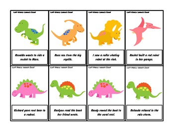 Dinosaur R Articulation Silly Sentences