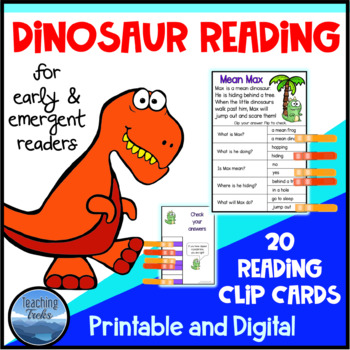 Dinosaur Activities: Reading Comprehension Passages for Reading Centers