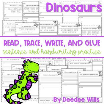 Dinosaur: Read, Trace, Glue, and Draw