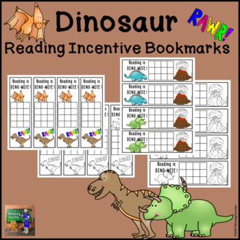 Dinosaur Reading Incentive Bookmarks