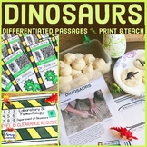 Dinosaurs Differentiated Reading Passages