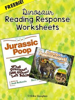 Dinosaur Reading Response Worksheets | FREEBIE