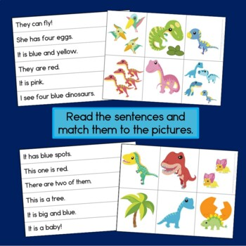 Dinosaur Reading and Sentence Building