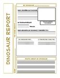 Dinosaur Report Printable