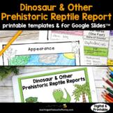 Dinosaur Research Project: Report Writing Printable & Digi