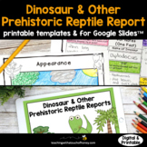Dinosaur Research - Report Writing Templates (Digital and
