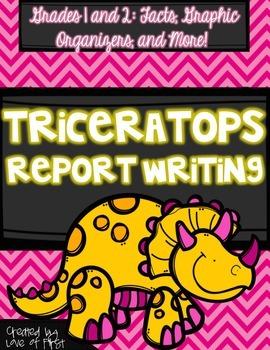 Dinosaur Report Writing {Triceratops}