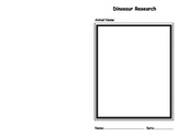Dinosaur Research Booklet