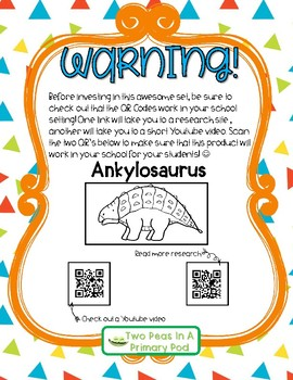 Dinosaur Research Flipbooks (with QR Codes!)