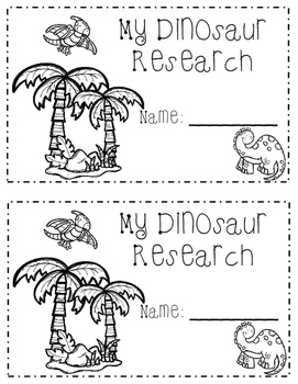 Dinosaur Research Mini-Book