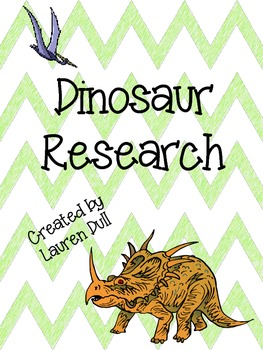 **Freebie!** Dinosaur Research Outline