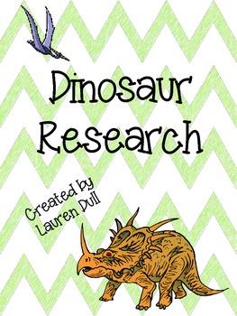 **Freebie!** Dinosaur Research Outline