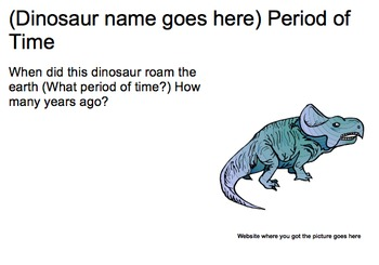 Dinosaur Research Outline and PowerPoint Template