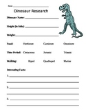 Dinosaur Research Paper