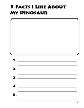 Dinosaur Research Project