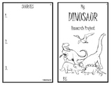 Dinosaur Research Project Booklet