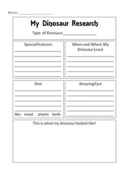 Dinosaur Research Report