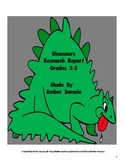 Dinosaur Research Report Project for ELA and Science with CCSS