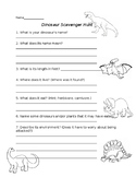 Dinosaur Research Scavenger Hunt