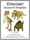 Dinosaur Research Template EDITABLE