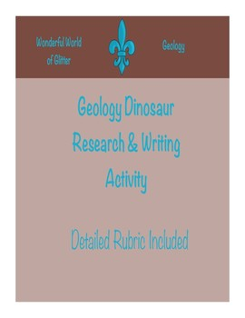 Dinosaur Research & Writing Activity