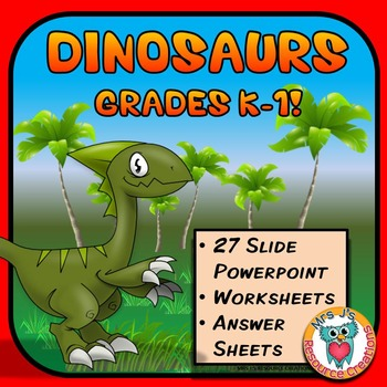 Dinosaurs PowerPoint + Worksheets Pack