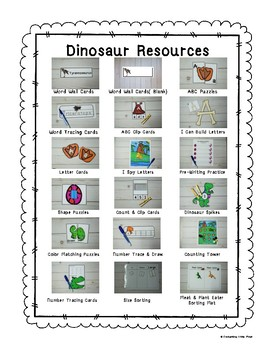 Dinosaur Resource Bundle
