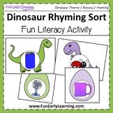 Dinosaur Rhyming Sort