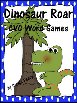 Dinosaur Roar CVC Word Games