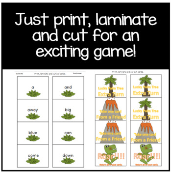 Dinosaur Roar { a game for practicing DOLCH sight words}