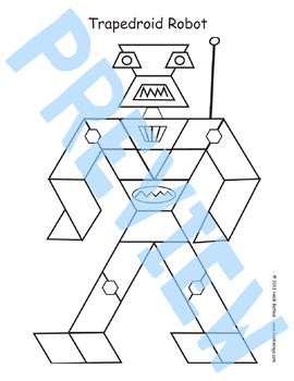 Dinosaur & Robot Pattern Block Activity - HeidiSongs