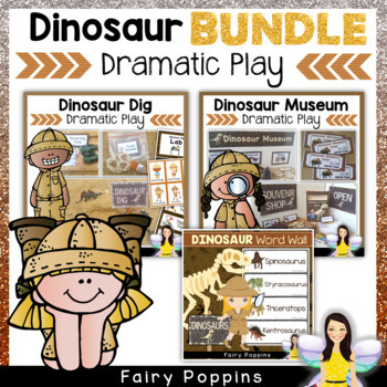 Dinosaur Role Play Bundle - Dinosaur Dig, Museum, Souvenir