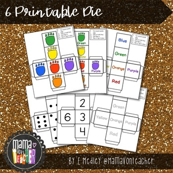 Dinosaur Roll! {Graphing and Dice Games}