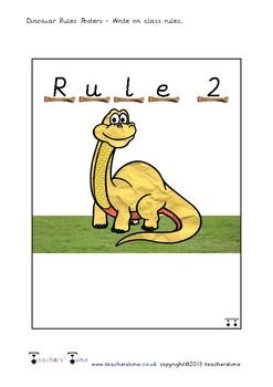 Dinosaur Rule Posters