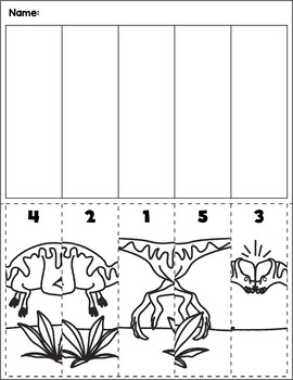Dinosaur Scene Number Sequence | Group 2