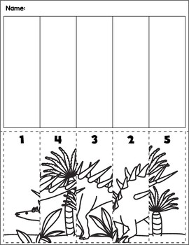Dinosaur Scene Number Sequence | Group 3