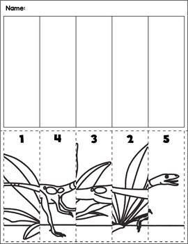 Dinosaur Scene Number Sequence | Group 4