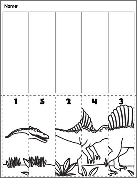 Dinosaur Scene Number Sequence | Group 5