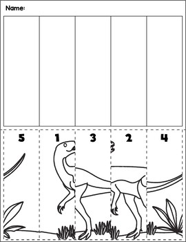 Dinosaur Scene Number Sequence | Group 6