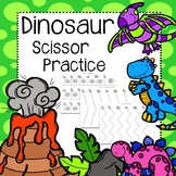 Dinosaur Scissor Practice