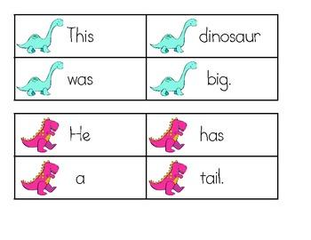 Dinosaur Scrambled Sentences