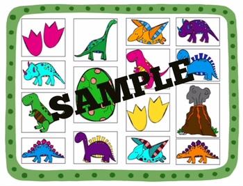 Dinosaur Sensory Activity COLOR