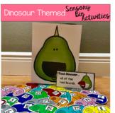"Dinosaur Sensory Bin Activities:  ""Feed Dinosaur"""